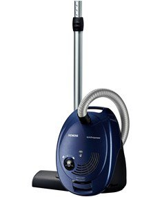 VS06B1110 Bodenstaubsauger synchropower mit Beutel (700 Watt, EEK B, highPower Motor, powerSecure System) moonlight blue
