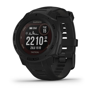Instinct Solar Tactical - robuste GPS-Smartwatch mit taktischen Funktionen und Solar-Ladelinse für bis zu 54 Tage Akku. US-Militärstandard,