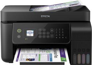 EcoTank ET-4700 4-in-1 Tinten-Multifunktionsgerät (Kopierer, Scanner, Drucker, Fax, DIN A4, ADF, WiFi, Ethernet, Display, USB 2.0), großer