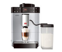 Caffeo Passione OT F531-101, Kaffeevollautomat mit Milchbehälter, One Touch Funktion, Silber