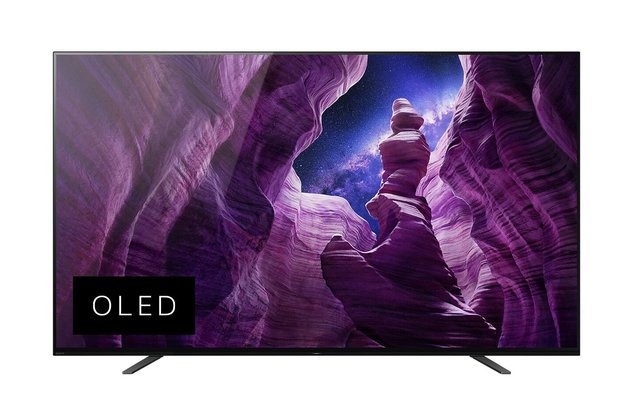 KD-55A8 Bravia 139 cm ( 55 Zoll) Fernseher (Android TV, OLED, 4K Ultra HD (UHD), High Dynamic Range (HDR), Smart TV, Sprachfernbedienung, 2020