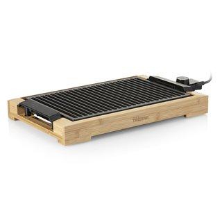BP-2785 Tischgrill/Barbecue-Grill mit Grillrost, 2000 Watt Leistung, eine Grillfläche von 37x25 cm, Bambusgehäuse