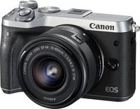 EOS M6 Kit 15-45mm 1:3,5-6,3 IS STM Systemkamera silber