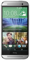 One M8 Smartphone (5 Zoll (12,7 cm) Touch-Display, 16 GB Speicher, Android 4.4.2) silber