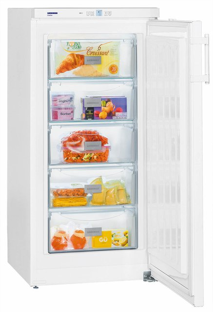 GP2033 Freestanding SmartFrost 156 litre Comfort Freezer White with Automatic SuperFrost Function and VarioSpace, Reversible Door, 60cm Width