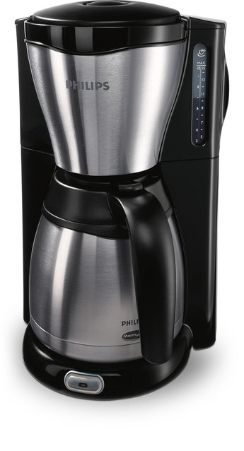 HD7546/20 Gaia Filter-Kaffeemaschine mit Thermo-Kanne, schwarz/metall