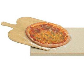 PS 16 Pizza Wunder Pizzastein, Schamotte, Beige, 35 x 35 x 1,4 cm
