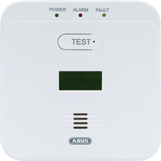 Kohlenmonoxid-Warnmelder COWM510 - CO-Melder mit 85 dB lautem Alarm, 10-Jahres-Sensor und LCD Display - 89164 - Weiß