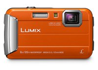 LUMIX DMC-FT30EG-D Outdoor Kamera (16,1 Megapixel, 4x opt. Zoom, 2,6 Zoll LCD-Display, wasserdicht bis 8 m, 220 MB interne Speicher, USB) orange