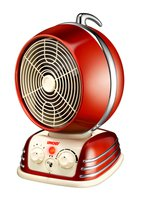 Classic Red - Heizlüfter 1200-2000W,4Stufen Classic Red