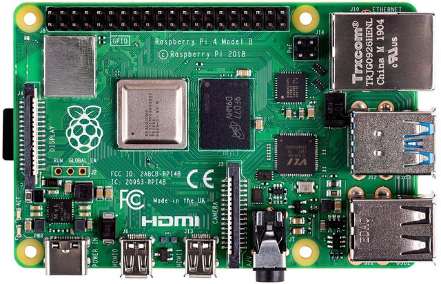 RASP PI 4 B 4GB - Raspberry Pi 4 B, 4x 1,5 GHz, 4 GB RAM, WLAN, BT