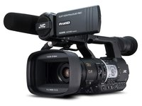 JY-HM360E 1080p (Full HD) Camcorder (Bild mit optionalem Mikrofon)