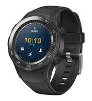 Watch 2 (Bluetooth) Smartwatch mit schwarzem Sportarmband (NFC, Bluetooth, WLAN, Android Wear/Wear OS by Google) schwarz