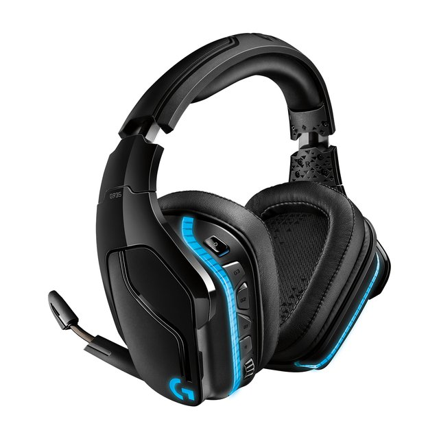 935 kabelloses Gaming-Headset mit LIGHTSYNC RGB, 7.1 Surround Sound, DTS Headphone:X 2.0, 50mm Treiber, Flip-Stummschaltung, Wireless