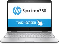Spectre x360 (13-ac004ng) 33,8 cm (13,3 Zoll / 4K Touchscreen) Convertible Ultrabook (2in1 Laptop mit Intel Core i7-7500U, 16 GB RAM, 512 GB SSD, Intel HD-Grafikkarte 620, Windows 10 Home) silber
