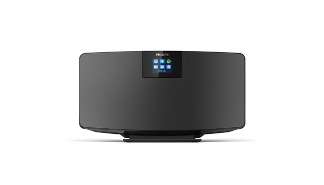 Internet-Radio, DAB+ Radio (WiFi, Mehrfach-Bluetooth, Spotify Connect, Alarmfunktion, Stereosound, TFT-Display, Schlankes Design),