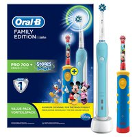 Braun Oral-B Family Edition Micky Maus mit Oral-B Pro 700 + Stages Power Micky Maus