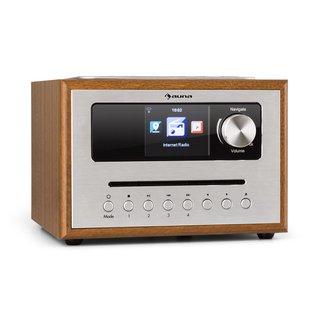 Silver Star CD Cube Radio Bluetooth HCC Display wood brown