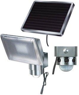 Solar-Spot mit Bewegungsmelder 4 W Kalt-Weiß 1170840 SOL 80 Silber-Grau