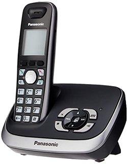 KX-TG6521GB Schnurlostelefon mit Anrufbeantworter schwarz